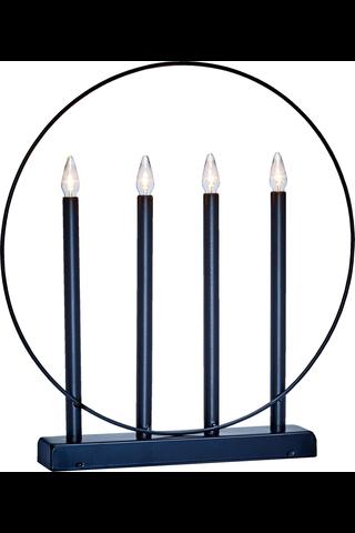 Decora kynttelikkö Aureola 4 LED musta