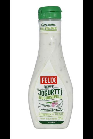 Felix kevyt jogurtti-ruohosipuli salaattikastike 375g