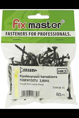 Fix Master kipsilevyruuvi harvakierre 3,8X41 fosfatoitu 80kpl