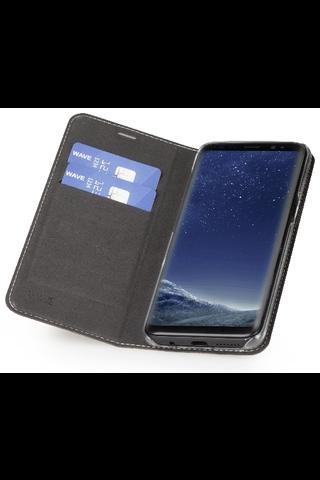 Wave Book Case, Samsung Galaxy S8, Ruusukulta