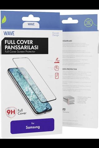 Wave panssarilasi Samsung Galaxy A20e musta kehys