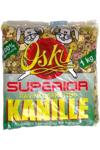 osku superior 1kg kaninruoka
