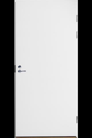 Laakapalo-ovi Fire 810 8x21 oikea maalattu valkoinen valkoinen karmi