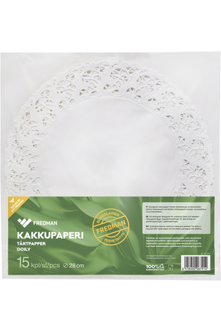 Eskimo kakkupaperi pyöreä Ø28cm 15kpl