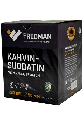 Fredman 90mm kahvinsuodatin 250 kpl/pkt