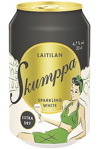 Laitilan Skumppa 0,33L Sparkling White Extra Dry 4,7% siideri