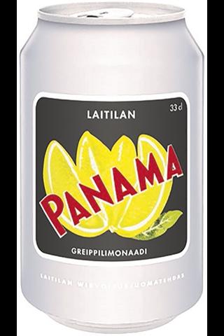 Laitilan Panama 0,33L greipinmakuinen limonaadi