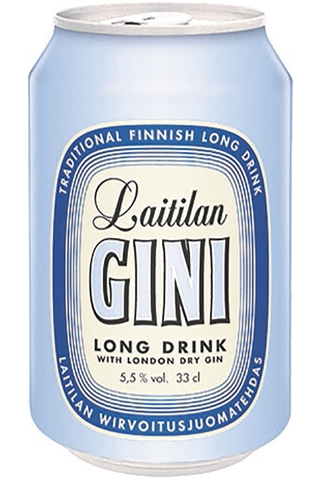 Laitilan Gini 5,5% 0,33L long drink with London Dry Gin