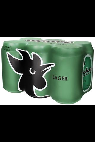 6 x Laitilan Kukko Lager 4,7% 0,33L olut