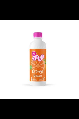 MySoda Orange 0,5l appelsiininmakuinen virvoitusjuomatiiviste