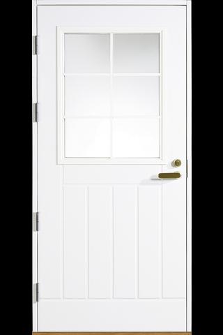 HALLTEX Ovet Juhani valkoinen 10x21 vasen