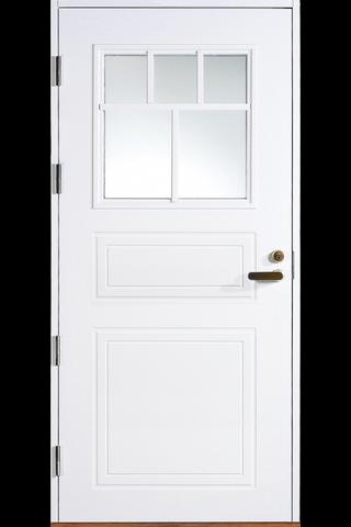 HALLTEX Ovet Aleksi valkoinen lasilla 9x21 vasen