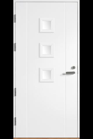 HALLTEX Ovet Siiri 01 valkoinen 9x21 vasen