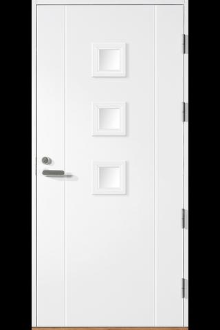 HALLTEX Ovet Siiri 01 valkoinen10x21 oikea