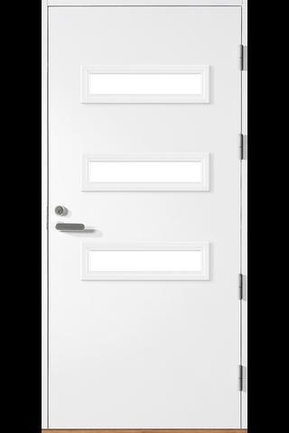 HALLTEX Ovet Heta 02 valkoinen 9x21 oikea