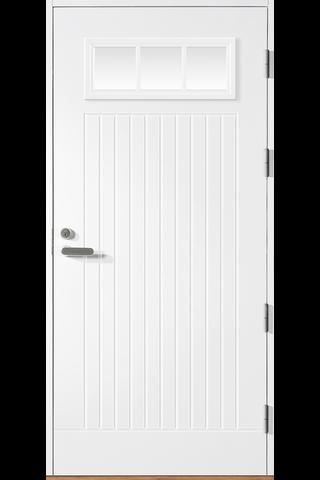 HALLTEX Ovet Toivo 02 valkoinen 9x21 oikea