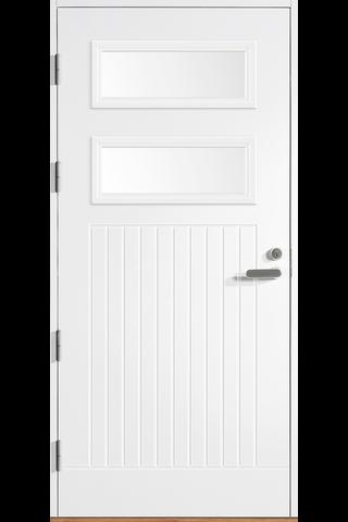 HALLTEX Ovet Toivo 03 valkoinen 10x21 vasen