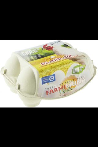 Farmimuna 348g kananmuna Virike M6 GMO-vapaa
