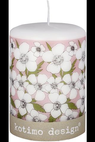 Kotimo Design 70x100mm pöytäkynttilä kuvallinen kukkaset