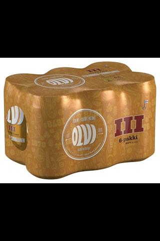 6 x OLVI III 4,5% olut 0,33 l tlk kutiste