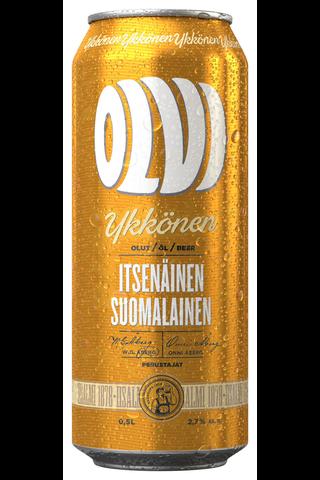 OLVI Ykkönen 2,7% olut 0,5 l tlk