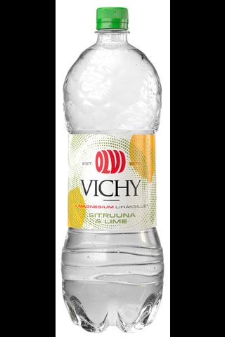 OLVI Vichy+Mg Sitruuna&Lime 1,5 l kmp kivennäisvesi