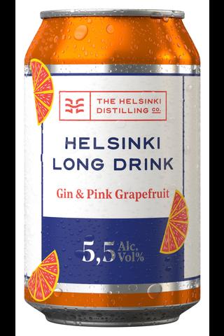 Helsinki Long Drink Gin&Pink Grapefruit 5,5% 0,33 l tlk