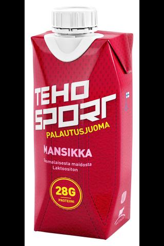 TEHO Sport 0,33L palautusjuoma voimaharjoitteluun mansikka tetra