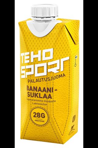 TEHO Sport palautusjuoma banaani-suklaa 0,33 l