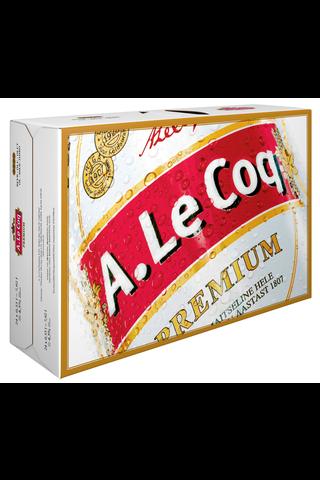 24 x A. Le Coq Premium 4,5% olut 0,33 l tlk salkku
