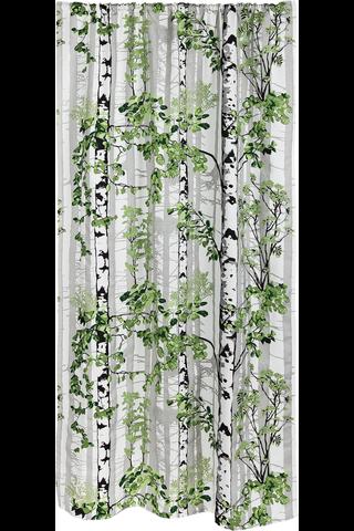 Vallila verho Luontopolku 140x250cm vihreä