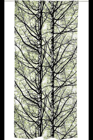 Vallila verho Pihapuut 140x250cm vihreä