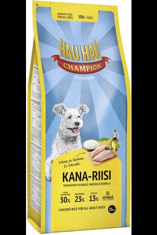 Hau-Hau 15kg Kana-riisi täysravinto