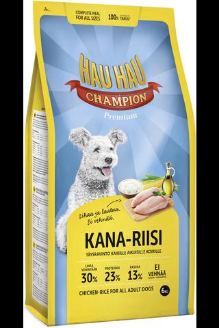 Hau-Hau Champion 6kg Kana-riisi täysravinto koiranruoka