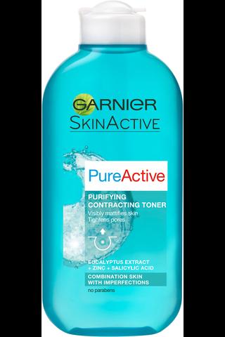 Garnier Skin Active 200ml Pure Active syväpuhdistava kasvovesi