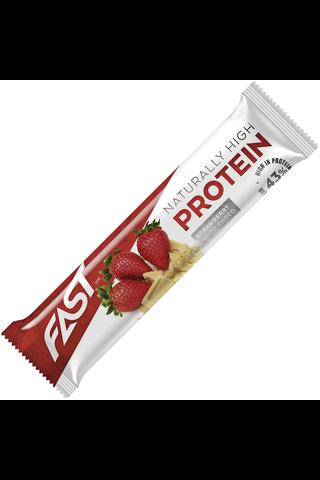 Fast 35g Naturally High Protein proteiinipatukka mansikka-valkosuklaa