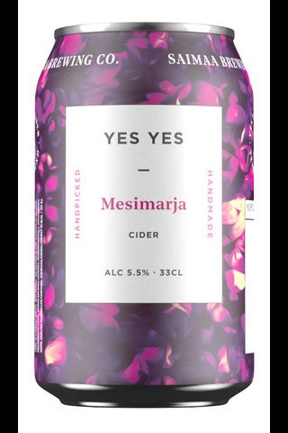 Yes Yes Mesimarja Cider 5,5% siideri 0,33l tölkki