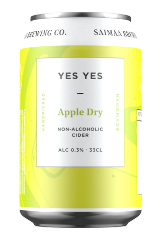 Yes Yes Apple Dry Non-Alcoholic Cider 0,3% siideri 0,33l tölkki