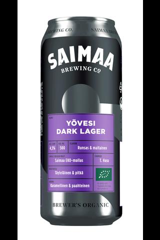 Brewer's Organic 0,5l Yövesi Dark Lager olut 4,5% tölkki