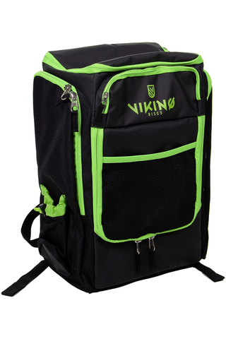 Viking Discs Tour Bag frisbeegolfreppu musta/lime