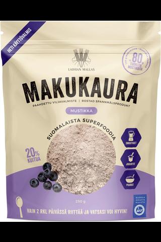 Laihian Makukaura paahdettu viljavalmiste mustikka runsaskuituinen 250 g