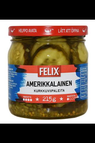 Felix Amerikkalainen kurkkuviipaleita makeassa mausteliemessä 410/215g