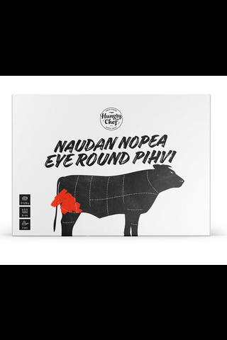 2x125g Hungry Chef Naudan nopea Eye Round -cut pihvi pakaste