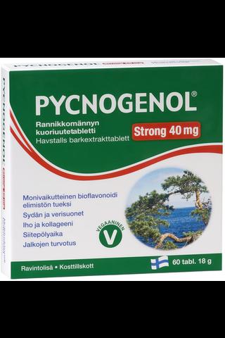 Pycnogenol Strong 40 mg rannikkomännyn kuoriuutetabletti 60 tabl