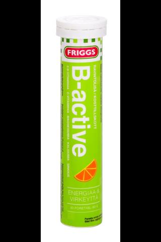 Friggs B-Active vahva B-vitamiini poretabletti, sisältää 8 eri vitamiinia 20kpl