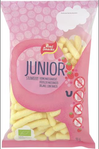 Real Snacks Junior 90g mansikka luomumaissinaksu