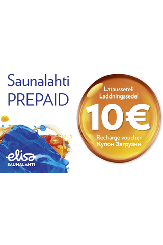 Saunalahti prepaid latauslipuke 10€