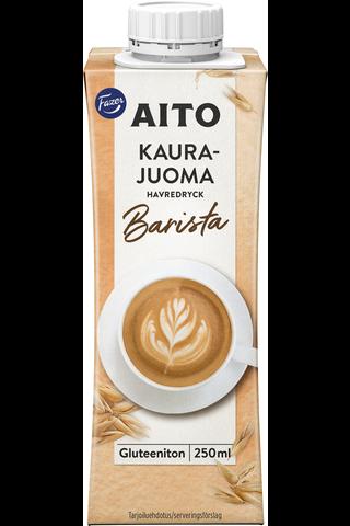 Kaslink Aito 250ml Kaurajuoma Barista gluteeniton UHT