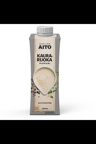 Kaslink Aito 250ml Pippurin makuinen kauravalmiste ruoanlaittoon laktoositon, gluteeniton