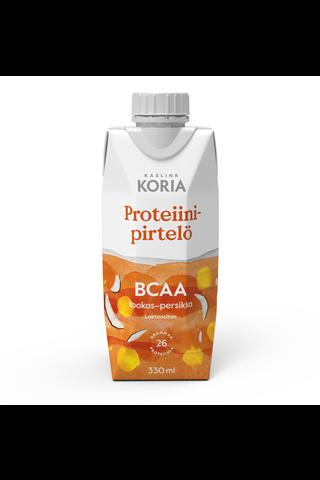 Kaslink Koria BCAA Kookos-Persikka Proteiinipirtelö 330ml